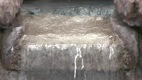 Close up of water in a fountain in Oak View, California Stock Video Footage