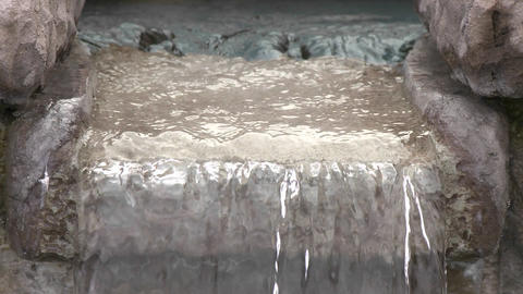 Close up of water in a fountain in Oak View, California Footage