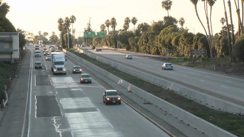 Time lapse of cars and trucks driving on Highway 101 in... Stock Video Footage