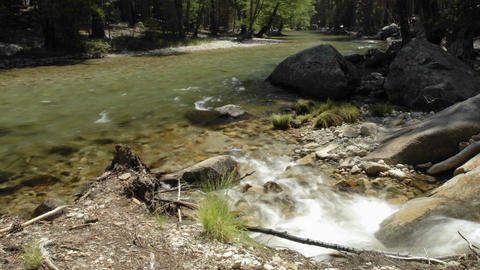 Time lapse of Kings River in Kings Canyon National Park,... Stock Video Footage
