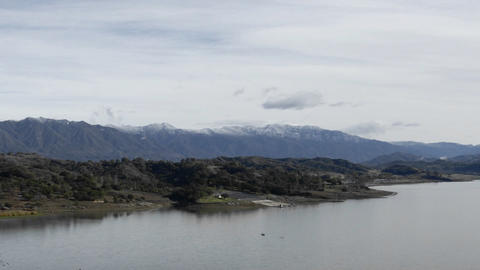Time lapse of clouds over Lake Casitas and Santa Ynez... Stock Video Footage