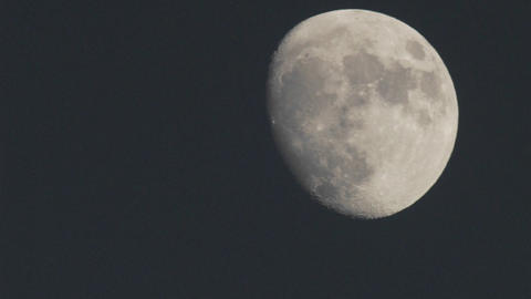 Close up time lapse of full moon rising in Oak View,... Stock Video Footage