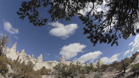 Time lapse of red rock and clouds on the Navajo Indian... Stock Video Footage