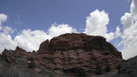 Time lapse of clouds over Red Rock Park in Morrison,... Stock Video Footage