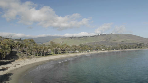 Time lapse of clouds passing over Refugio Beach State Park, California Footage