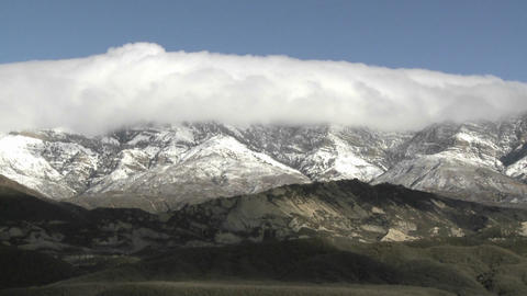 Time lapse of clouds passing over Reyes Peak and Piedra... Stock Video Footage