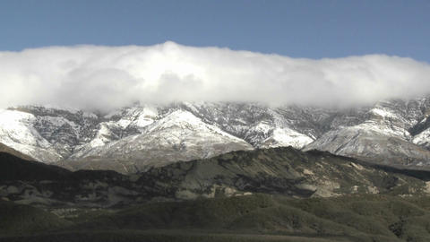 Time lapse of clouds passing over Reyes Peak and Piedra Blanca in the Sespe WIlderness Area, Califor Footage
