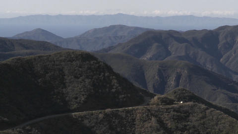 Slow wide zoom of the Santa Ynez Mountains above Ojai,... Stock Video Footage