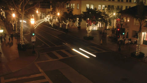 Night time lapse of State Street during the holidays in... Stock Video Footage