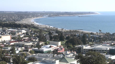 Ventura and the coast from Grant Park in Ventura, California Footage