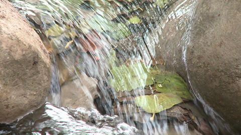 Loopable close up of a waterfall in Wheeler Springs above Ojai, California Footage
