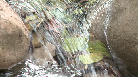 Loopable close up of a waterfall in Wheeler Springs above... Stock Video Footage