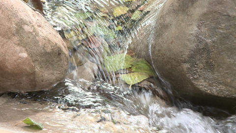 Loopable close up of waterfall in Wheeler Springs above Ojai, California Footage