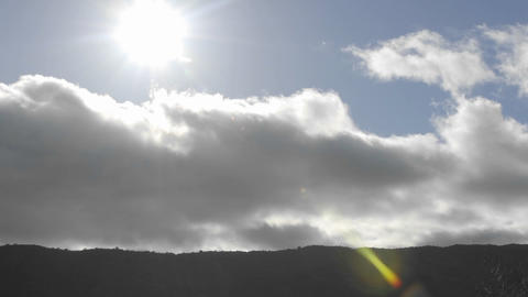 Time lapse of spring clouds passing over a ridge in Oak... Stock Video Footage