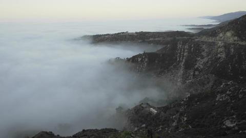 Slow time lapse of coastal fog at sunrise along the Santa... Stock Video Footage