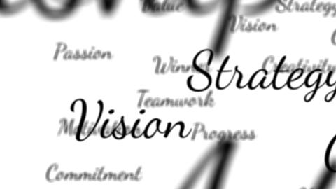 Success words background loop with matte Animation