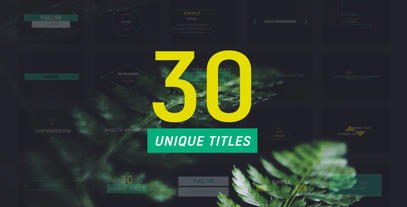 30 Corporate Titles After Effects Template