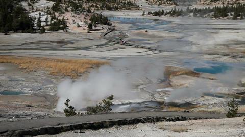Porcelain Basin Yellowstone trail P HD 2523 Footage