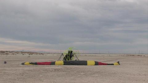 Powered Parachute engine start M HD Footage