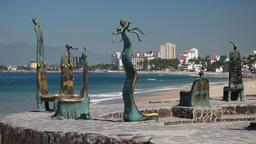 Puerto Vallarta beach chairs P HD 4553 Footage