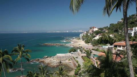 Puerto Vallarta coast and wealthy resorts Mexico P HD 4590 Footage