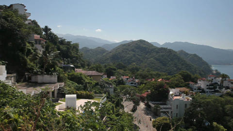 Puerto Vallarta homes coast pan P HD 4586 Footage