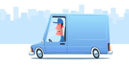 Man driving a service van Animation