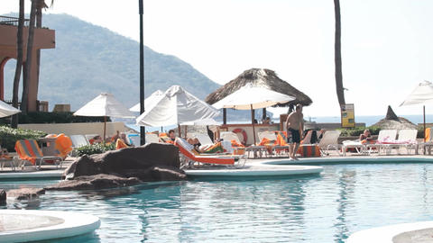 Resort swimming pool Mexico pan P HD 4849 Live Action