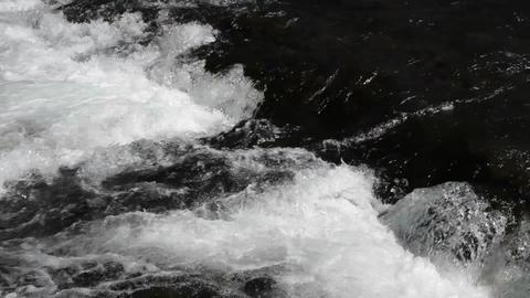 River rapids waterfall P HD 2634 Footage