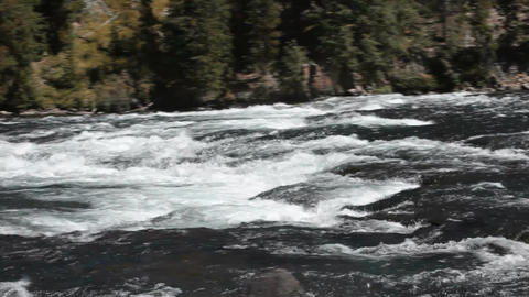 River ripples mountain pan P HD 2653 Footage