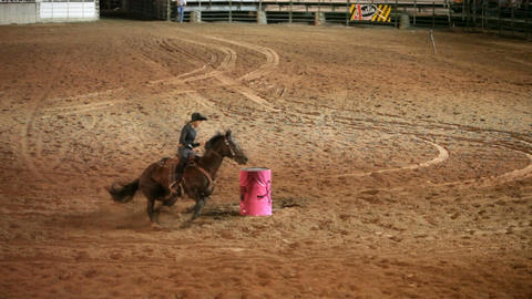 Rodeo woman barrel racing slow P HD 1137 Live Action