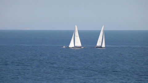 Sailboats in ocean P HD 5104 Live Action