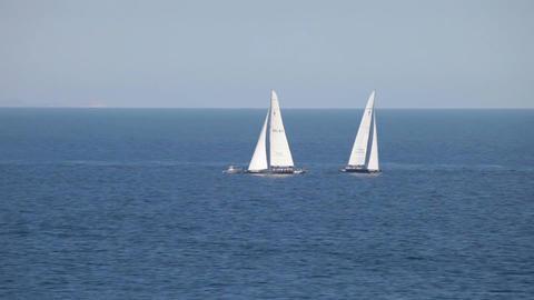 Sailboats in ocean P HD 5104 Footage