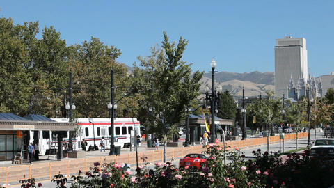 Salt Lake City train pubic transportation P HD 2460 Footage