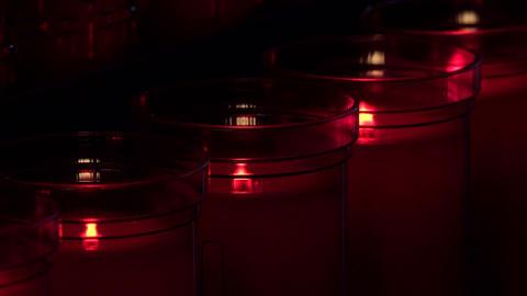 Sedona Arizona Chapel Holy Cross Catholic prayer candles close 4K 081 Live Action
