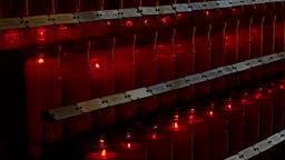 Sedona Arizona Chapel Holy Cross Catholic prayer candles 4K 080 Live Action