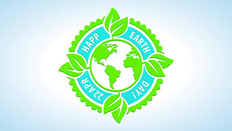 happy earth day festival symbol for natural resources conservation and renewable energy creation for Animation