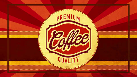natural morning coffee restaurant brand for espresso or cappuccino drink with retro typeface and Animation