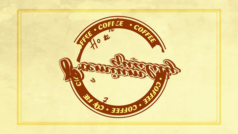hot tasty coffee brochure cover for restaurant or cafeteria with vintage style theme and Animation