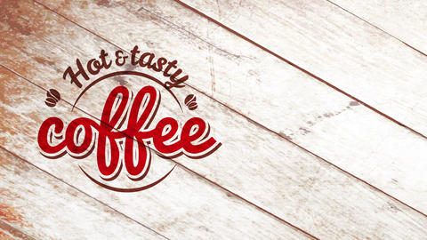 coffee shop drink labor store signpost selling delicious grinded coffee cosmetic with vintage font Animation