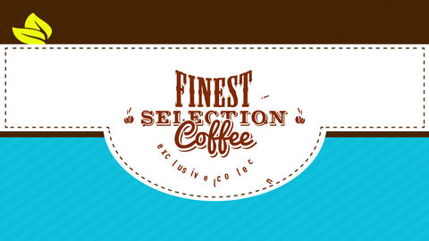 exclusive coffee collection bag front from finest beans selection with guaranteed toast flavor and Animation