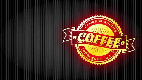coffee towards go mug sleeve for express cafe bar with gold symbol and vintage offset Animation