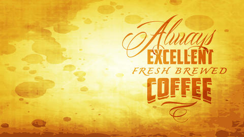 forever excellent pure brewed coffee signboard for famous cafe bar with vintage typeface over Animation