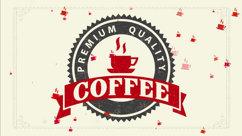 coffee industry selling for restaurant deal or store depicting freshness and fragrance of Animation