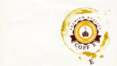 specialty blended coffee powder trademark crafted from professionally roasted beans for coffeehouse Animation