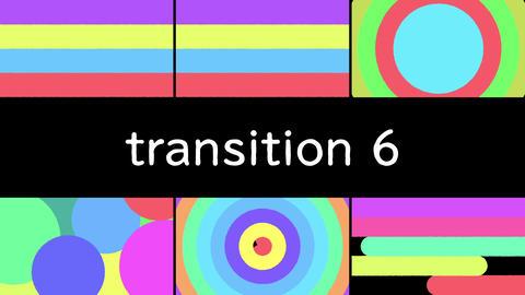 上に重ねるだけで使えるトランジション6パック After Effectsテンプレート