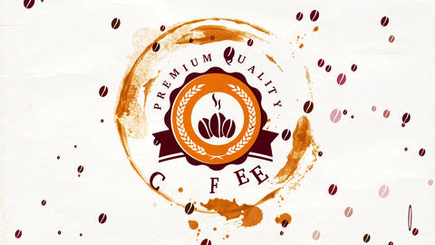 specialty blended coffee powder trademark crafted from professionally roast beans for coffee shop Animation