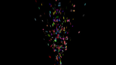 Confetti with QuickTime/Alpha Channel/Prores 4444 Animation