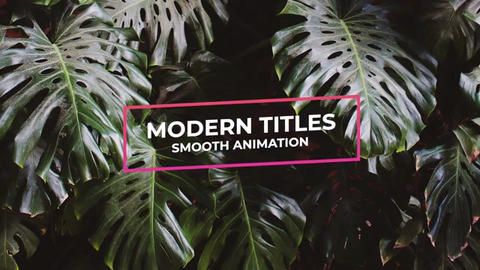 Modern Titles Apple Motion Template