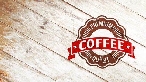 industrial coffee product trademark with minimalist disk design and aged letters for tiny cafe or Animation